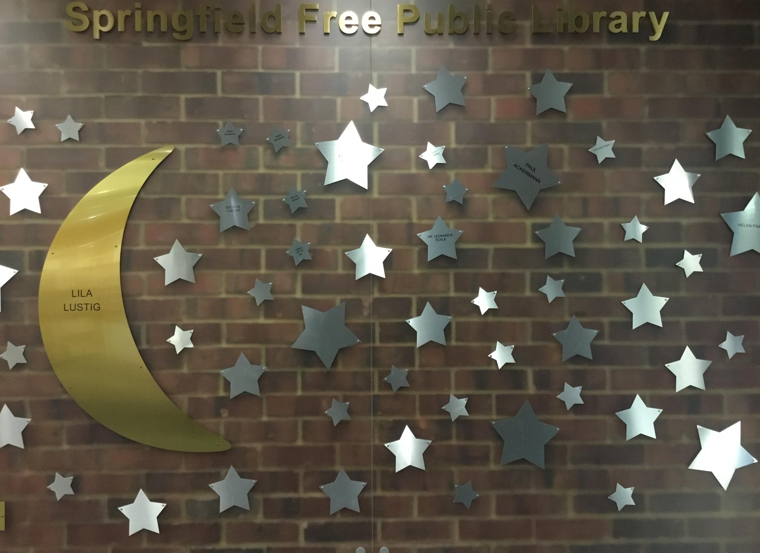 "Adopt"" a Star on the Springfield Free Public Library Donor"